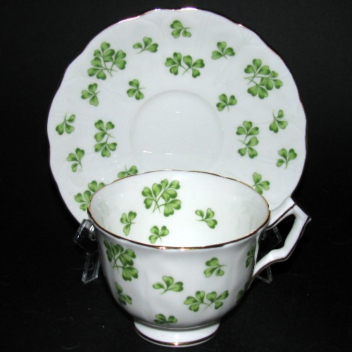 Aynsley Shamrock Tea Cup and Saucer