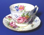 Aynsley Floral Tulip Tea Cup and Saucer