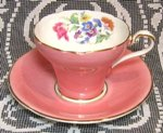 Pink Deco Floral Aynsley Tea Cup