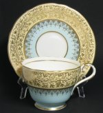 Vintage Aynsley Blue Yellow Gilt Teacup