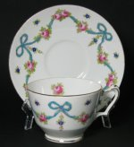 Crown Staffordshire Blue Ribbons Teacup
