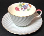 Vintage Aynsley Ribbed Floral Teacup