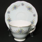 Colclough Blue Pansies Teacup