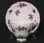 Colclough Violets Teacup and Saucer