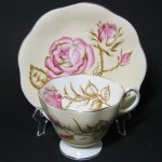 Foley Teacup Pink Roses Branches