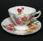 Hammersley Roses Teacup with Square Rim