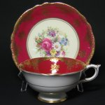 Vintage Paragon Gilt Floral Bouquet Teacup and Saucer