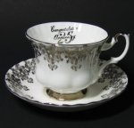Royal Albert 25th Anniversary Teacup and Saucer