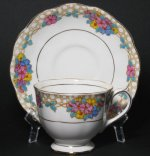 Royal Albert Crown China Deco Floral Teacup