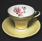 Aynsley Pastel Yellow Teacup and Saucer