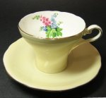 Aynsley Yellow Corset Style Teacup and Saucer