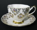 Queen Anne Gilt Floral Teacup