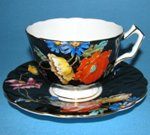 Aynsley Poppy Teacup and Saucer