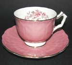 Aynsley Dusty Rose Floral Teacup