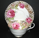 Aynsley Roses with Gilt Leaves Teacup