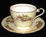 Aynsley Pastel Yellow Teacup with Blossoms