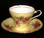Aynsley Yellow Corset Teacup with Roses