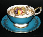 Aynsley Blue Orchard Teacup