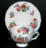 Aynsley Blue Trim Floral Teacup