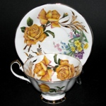 Yellow Roses Teacup Queen Anne