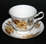 Brown Flowers Teacup