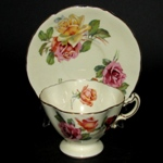 Yellow Hammersley Teacup with Red and Yellow Roses