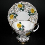 Gilt Yellow Flowers Teacup