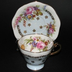 Blue Floral Bouquet Teacup