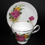 Red Yellow Roses Teacup