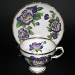 Purple Flowers Teacup