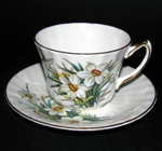 White Floral Teacup