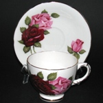 Red Pink Roses Teacup