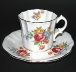 Red Rose Floral Teacup