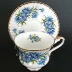 Bachelor Buttons Teacup