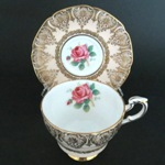 Paragon Scrollwork Red Rose Teacup