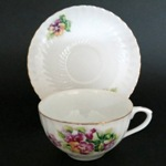 Shafford Floral Bouquet Ribbed Teacup