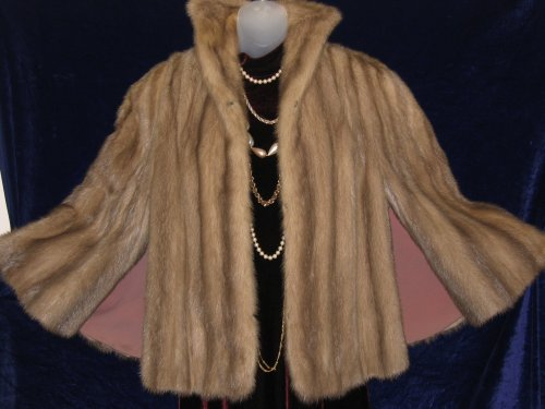 HBC Ash Brown Mink Cape