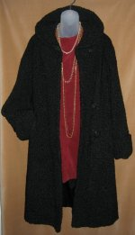 Vintage Black Persian Lamb Fur Coat