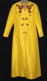 Tori Richard Yellow Dress Robe