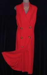 Joseph Ribkoff Double Breasted Red Dress