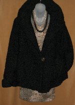 Black Persian Lamb Shawl Jacket