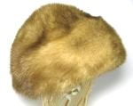 Brown Ridged Mink Fur Hat