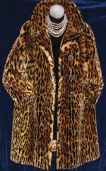 Mouton Leopard Cheetah Print Fur Coat