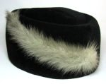 Black Velvet Felt Mink Fur Hat