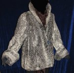 Gray Persian Lamb Swing Jacket