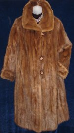 Vintage Beaver Full Length Fur Coat