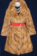 Mink Chevron Fur Coat Jacket