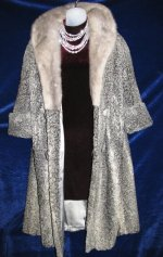 Variegated Silver Gray Persian Lamb Coat