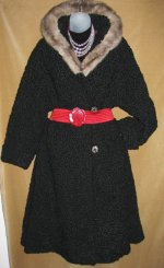 Goth Persian Lamb Fur Coat