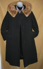 Alpaca Saltaire Coat with Mink Collar